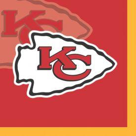 NFL Kansas City Chiefs Beverage Napkin, 2 ply