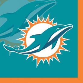 NFL Miami Dolphins Beverage Napkin, 2 ply