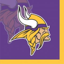 NFL Minnesota Vikings Beverage Napkin, 2 ply