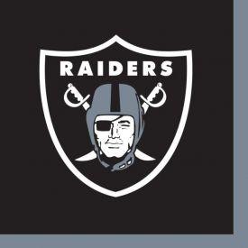 NFL Oakland Raiders Beverage Napkin, 2 ply