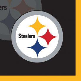NFL Pittsburgh Steelers Beverage Napkin, 2 ply