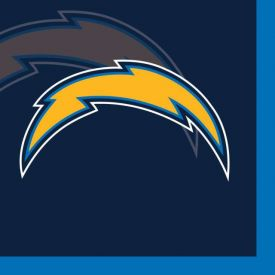 NFL Los Angeles Chargers Beverage Napkins 2 ply