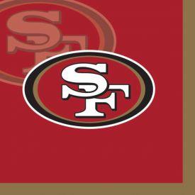 NFL San Francisco 49ers Beverage Napkin, 2 ply