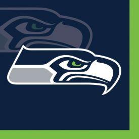 NFL Seattle Seahawks Beverage Napkin, 2 ply