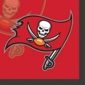 NFL Tampa Bay Buccaneers Beverage Napkin, 2 ply