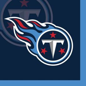 NFL Tennessee Titans Beverage Napkin, 2 ply