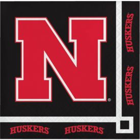 University of Nebraska Beverage Napkins, 2-Ply