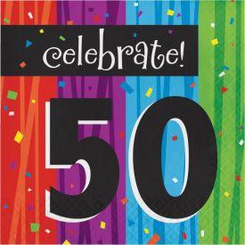Milestone Celebrations Lunch Napkins, 3-Ply, 50th
