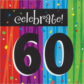 Milestone Celebrations Lunch Napkins, 3-Ply, 60th