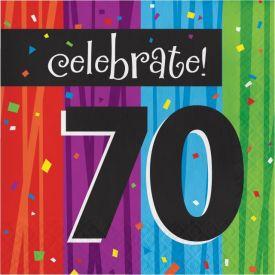 Milestone Celebrations Lunch Napkins, 3-Ply, 70th