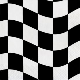 Black & White Check Lunch Napkins, 2-Ply