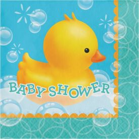 Bubble Bath Lunch Napkins, 3-Ply, Baby Shower
