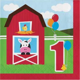 Farmhouse Fun Lunch Napkins, 2-Ply, 1st Bday