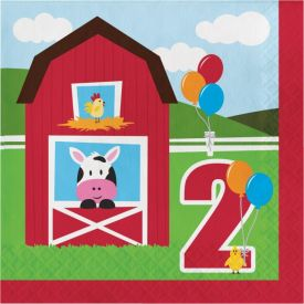 Farmhouse Fun Lunch Napkins, 2-Ply, 2nd Bday
