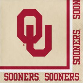 University of Oklahoma Lunch Napkins, 2-Ply