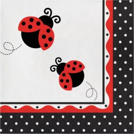 Ladybug Fancy Lunch Napkins, 3-Ply
