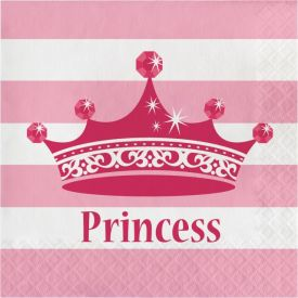Pink Princess Royalty Lunch Napkins, 2-Ply