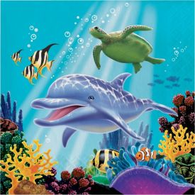 Ocean Party Lunch Napkins, 3-Ply