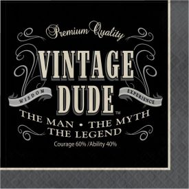Vintage Dude Lunch Napkins, 3-Ply