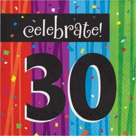Milestone Celebrations Lunch Napkins, 3-Ply, 30th