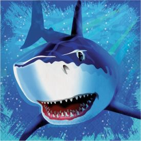 Shark Splash Lunch Napkins, 3-Ply