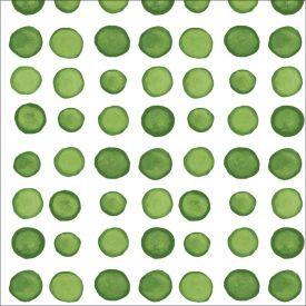 Dotted & Striped Verdi Luncheon Napkins 3 Ply Two-Sided