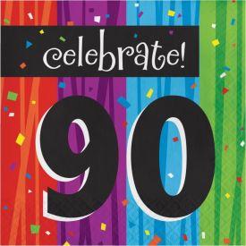 Milestone Celebrations Lunch Napkins, 3-Ply, 90th