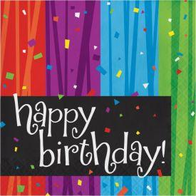 Milestone Celebrations Lunch Napkins, 3-Ply, Happy Birthday