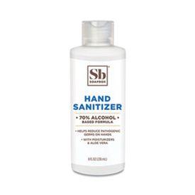 Soapbox 70% Alcohol Unscented Hand Sanitizer, 8oz Bottle, Gel