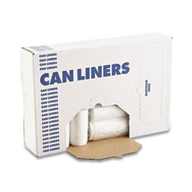 Boardwalk® High-Density Can Liners, 33 x 40, 33 gal, 16 microns, Clear