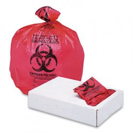 Boardwalk; Health Care Trash Liners, 1.3mil, 24 x 32, Red
