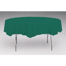 Hunter Green Table Cover, Plastic 82