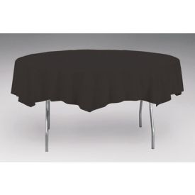 Black Velvet Table Cover, Plastic 82