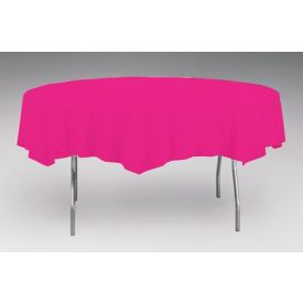 Hot Magenta Table Cover, Plastic 82