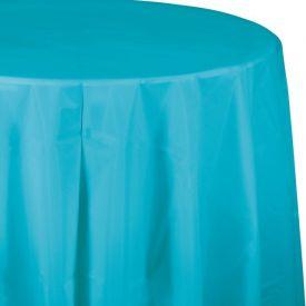 Bermuda Blue Table Cover, Plastic 82