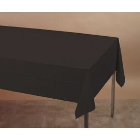 Black Velvet Table Cover Paper/Plastic-Lined 54