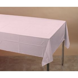 Classic Pink Tissue/Poly Table Cover 54