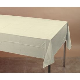 Ivory Tissue/Poly Table Cover 54