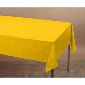 School Bus Yellow Tissue/Poly Table Cover 54