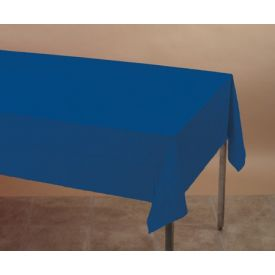 Navy Tissue/Poly Table Cover 54