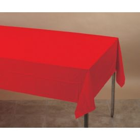 Classic Red Table Covers Paper, Plastic-Lined 54