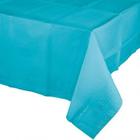 Bermuda Blue Tissue/Poly Table Cover 54