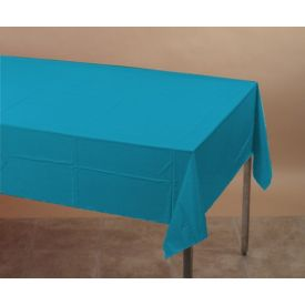 Turquoise Table Covers Paper/Plastic Lined 54