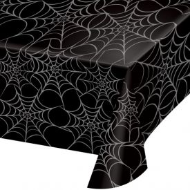 Metallic Spider Webs Plastic Table Covers 54