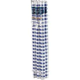 Blue Gingham Banquet Table Roll, Plastic 100'