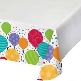 Shimmering Balloons Table Cover Plastic 48