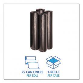 Boardwalk® Low-Density Repro Can Liners, 45 gal, 1 mil, 40