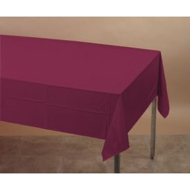 Burgundy Table Cover, Plastic 54