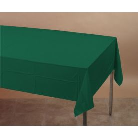 Hunter Green Table Cover, Plastic 54