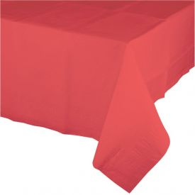 Coral Plastic Table Cover 54